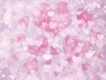 Αγάπης αφηρημένες ζωηρόχρωμες θαμπάδες αστεριών υποβάθρου λαμπρές Στοκ Εικόνα