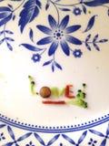 Αγάπης στο πιάτο Στοκ Φωτογραφία