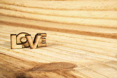 Αγάπη λέξης, ξύλο Στοκ Εικόνες