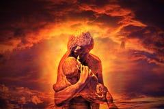 αγάπη αγκαλιάσματος Στοκ εικόνα με δικαίωμα ελεύθερης χρήσης
