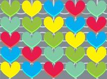 αγάπη απεικόνισης καρδιών Στοκ εικόνες με δικαίωμα ελεύθερης χρήσης