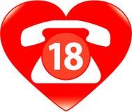 αγάπη απεικόνισης κλήσης Στοκ φωτογραφία με δικαίωμα ελεύθερης χρήσης