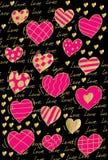 Αγάπη βαλεντίνων καρδιών σχεδίων Στοκ Εικόνες
