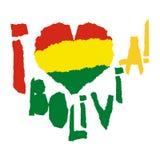 Αγάπη Βολιβία, Αμερική Εκλεκτής ποιότητας εθνική σημαία στη σκιαγραφία σχισμένου του καρδιά ύφους σύστασης εγγράφου grunge διάνυσ Στοκ φωτογραφίες με δικαίωμα ελεύθερης χρήσης