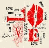 Αγάπη, βρώμικο ύφος Στοκ φωτογραφία με δικαίωμα ελεύθερης χρήσης