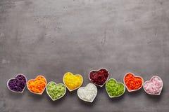 Αγάπη για την υγιή έννοια τροφίμων Στοκ Εικόνες