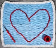 Αγάπη για τη χειροτεχνία, το τσιγγελάκι και το πλέξιμο Στοκ Εικόνες