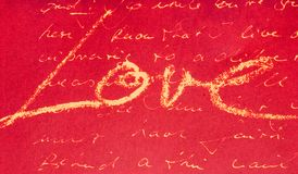 αγάπη γραφής Στοκ Εικόνες
