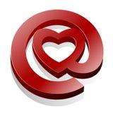 αγάπη εικονιδίων καρδιών ηλεκτρονικού ταχυδρομείου Στοκ Εικόνες