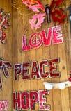 Αγάπη, ελπίδα ειρήνης Στοκ φωτογραφία με δικαίωμα ελεύθερης χρήσης