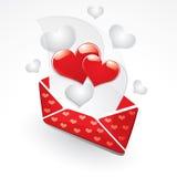 αγάπη επιστολών καρδιών απεικόνιση αποθεμάτων