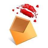 αγάπη επιστολών απεικόνιση αποθεμάτων