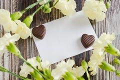 αγάπη επιστολών καρδιών φακέλων Στοκ Φωτογραφίες