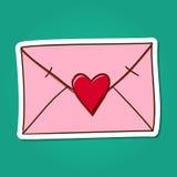 αγάπη επιστολών καρδιών φακέλων Στοκ εικόνες με δικαίωμα ελεύθερης χρήσης