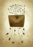 αγάπη επιστολών καρδιών φακέλων Στοκ Εικόνες