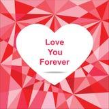 Αγάπη εσείς για πάντα, περίληψη Στοκ εικόνα με δικαίωμα ελεύθερης χρήσης