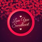 Αγάπη εσείς διανυσματικό σχέδιο υποβάθρου αγαπημένων Στοκ εικόνες με δικαίωμα ελεύθερης χρήσης