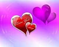 Αγάπη εσείς διπλάσιο καρδιών Στοκ Φωτογραφίες