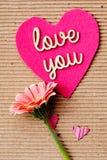 Αγάπη εσείς - ρόδινο λουλούδι Στοκ φωτογραφίες με δικαίωμα ελεύθερης χρήσης