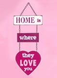 Αγάπη εσείς σπίτι Στοκ Εικόνες