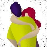 αγάπη ζευγών Δύο που αγκαλιάζουν τους εραστές Ρομαντική έννοια ελεύθερη απεικόνιση δικαιώματος