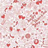 Αγάπη, ημέρα βαλεντίνων - doodles συλλογή Στοκ εικόνες με δικαίωμα ελεύθερης χρήσης