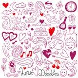 Αγάπη doodles Στοκ φωτογραφίες με δικαίωμα ελεύθερης χρήσης