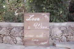 Αγάπη και απόσπασμα κρασιού Στοκ φωτογραφίες με δικαίωμα ελεύθερης χρήσης