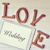 Αγάπη και γάμος λέξεων, που φιλτράρονται Στοκ φωτογραφίες με δικαίωμα ελεύθερης χρήσης