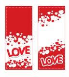 Αγάπη και κάρτα καρδιών στοκ εικόνα
