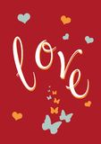 Αγάπη και πεταλούδες Ελεύθερη απεικόνιση δικαιώματος