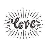 Αγάπη και starburst λευκό Στοκ Φωτογραφίες