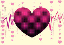 αγάπη καρδιών ανασκόπησης Στοκ φωτογραφίες με δικαίωμα ελεύθερης χρήσης