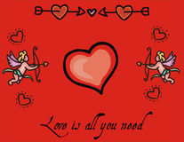 αγάπη καρδιών ανασκόπησης &rho Στοκ φωτογραφία με δικαίωμα ελεύθερης χρήσης