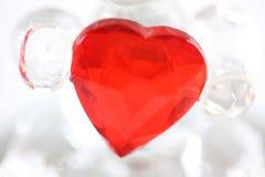 αγάπη καρδιών γυαλιού Στοκ φωτογραφία με δικαίωμα ελεύθερης χρήσης