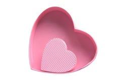 αγάπη καρδιών δώρων κιβωτίω&nu Στοκ Εικόνα