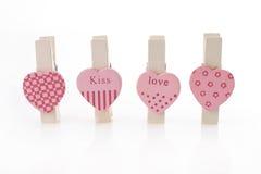 αγάπη καρδιών συνδετήρων Στοκ εικόνα με δικαίωμα ελεύθερης χρήσης
