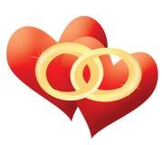 αγάπη καρδιών Στοκ Εικόνες