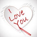 αγάπη καρτών εσείς διανυσματική απεικόνιση