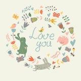 αγάπη καρτών εσείς Στοκ εικόνα με δικαίωμα ελεύθερης χρήσης