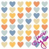 αγάπη καρτών εσείς Στοκ εικόνες με δικαίωμα ελεύθερης χρήσης
