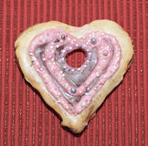 Αγάπη καρδιών μπισκότων Στοκ Φωτογραφίες