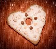 Αγάπη καρδιών μπισκότων Στοκ φωτογραφίες με δικαίωμα ελεύθερης χρήσης