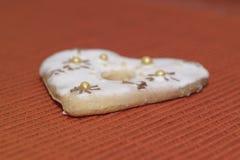 Αγάπη καρδιών μπισκότων Στοκ Εικόνα