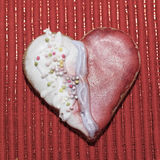 Αγάπη καρδιών μπισκότων Στοκ εικόνα με δικαίωμα ελεύθερης χρήσης