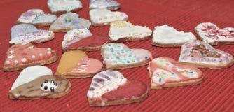 Αγάπη καρδιών μπισκότων Στοκ Φωτογραφία