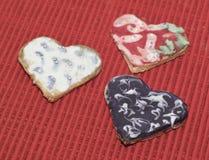 Αγάπη καρδιών μπισκότων Στοκ Εικόνες