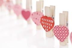αγάπη καρδιών συνδετήρων Στοκ εικόνες με δικαίωμα ελεύθερης χρήσης