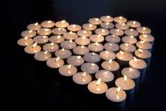 Αγάπη κεριών Στοκ φωτογραφία με δικαίωμα ελεύθερης χρήσης
