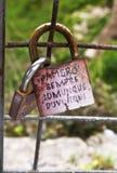 αγάπη κλειδωμάτων Στοκ φωτογραφία με δικαίωμα ελεύθερης χρήσης